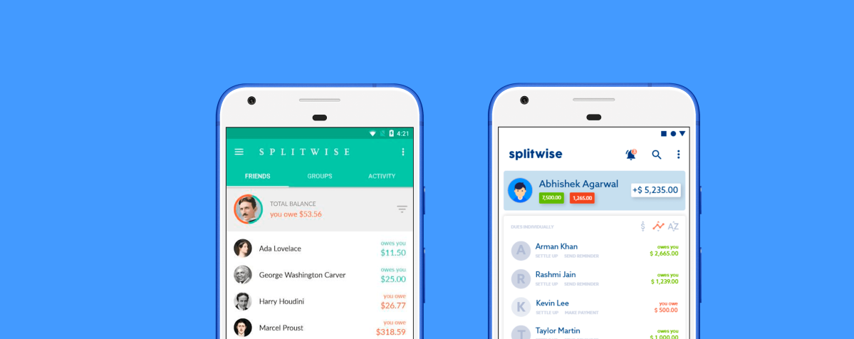 Redesigning an Unproductive but a Necessary App – Splitwise